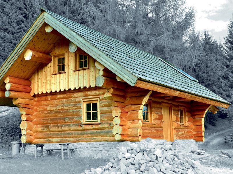 Naturbelassene Blockhäuser aus Holz